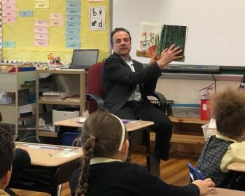 Bridgeport Mayor Surprises St. Raphael Students